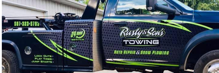 Rusty and Son's Towing, Auto Repair & Snow Plowing Towing.com Profile Banner