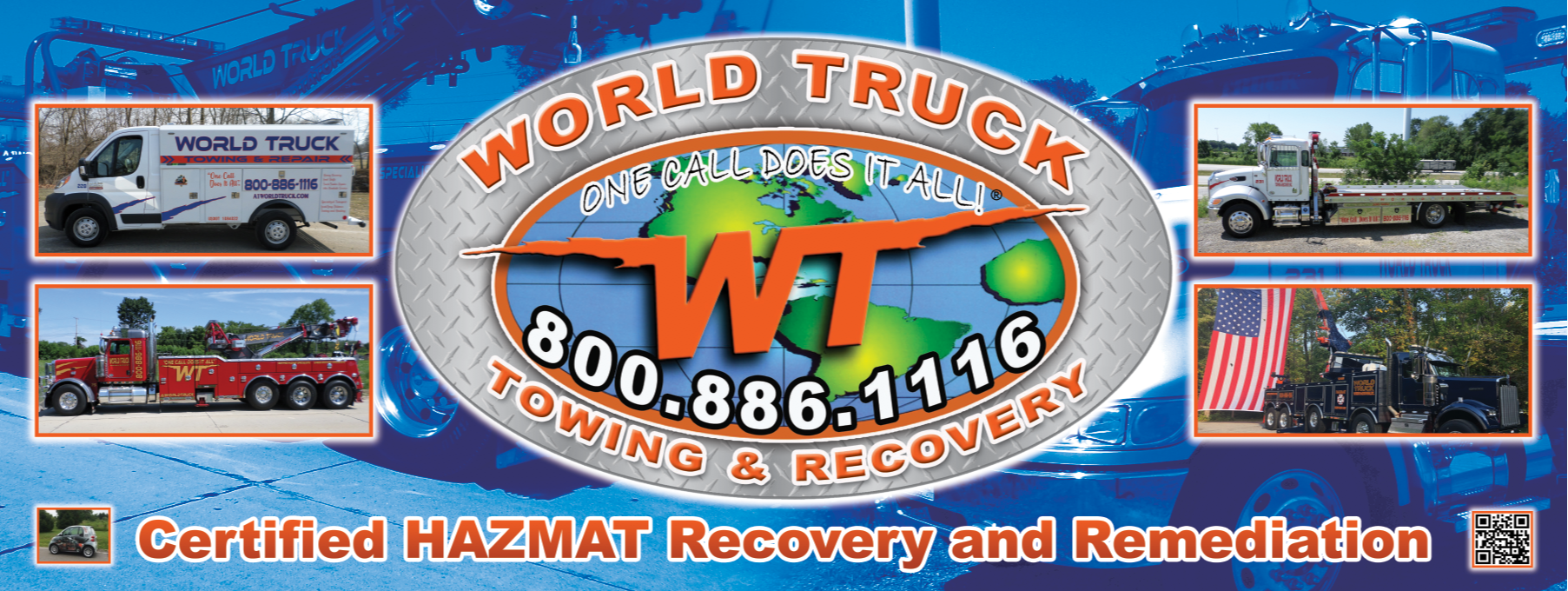 World Truck Towing & Recovery, INC. Towing.com Profile Banner