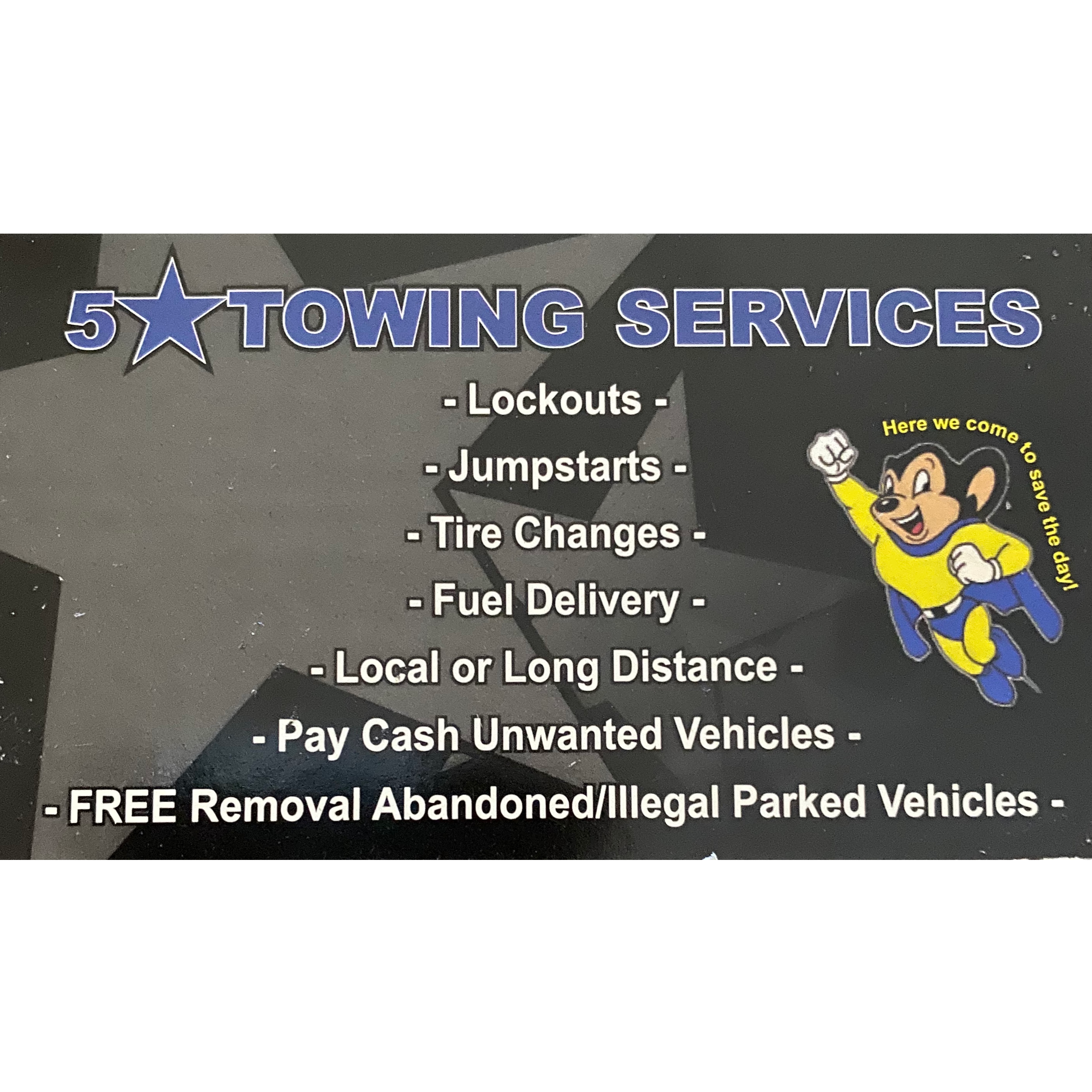 Five Star Towing logo