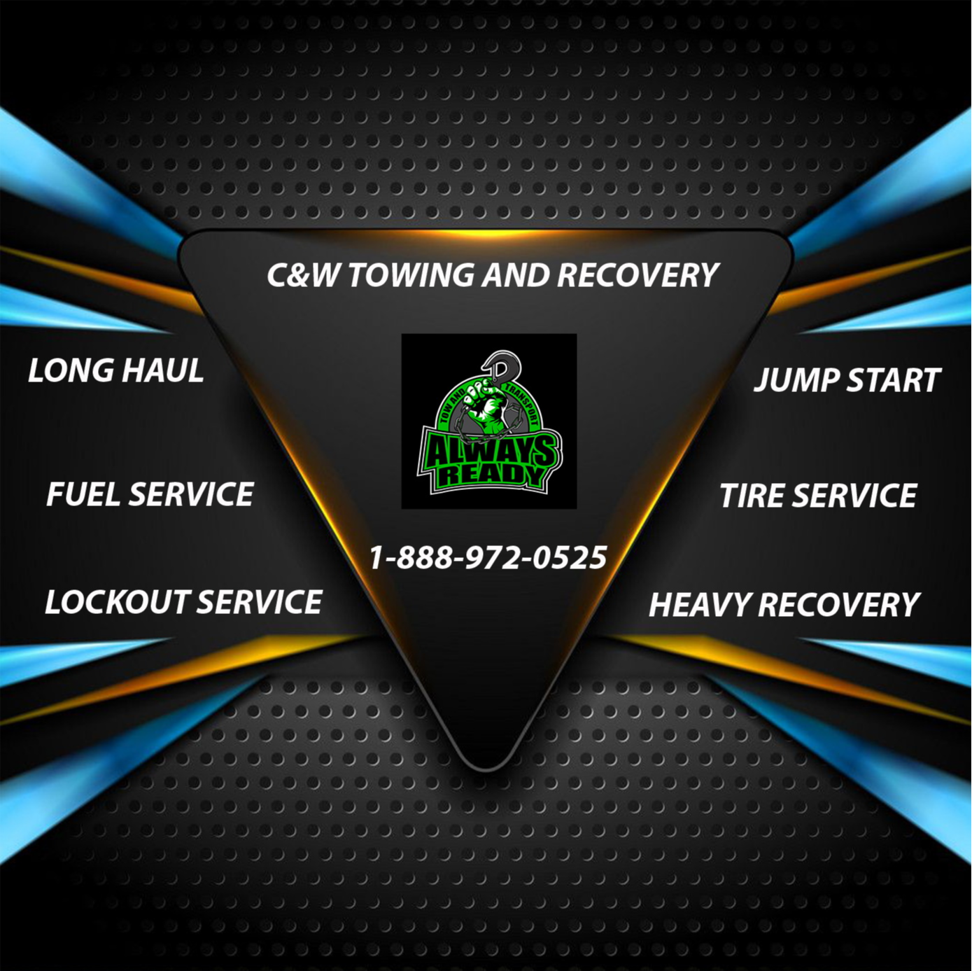 C & W Towing and Recovery logo