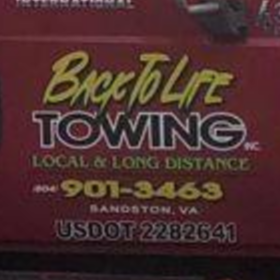 Back to life towing, inc logo