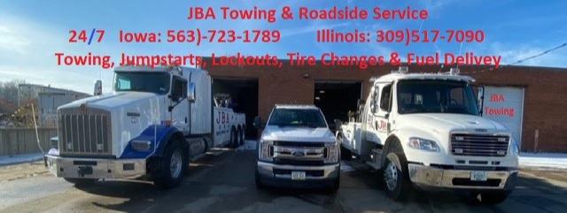 JBA TOWING AND ROADSIDE logo