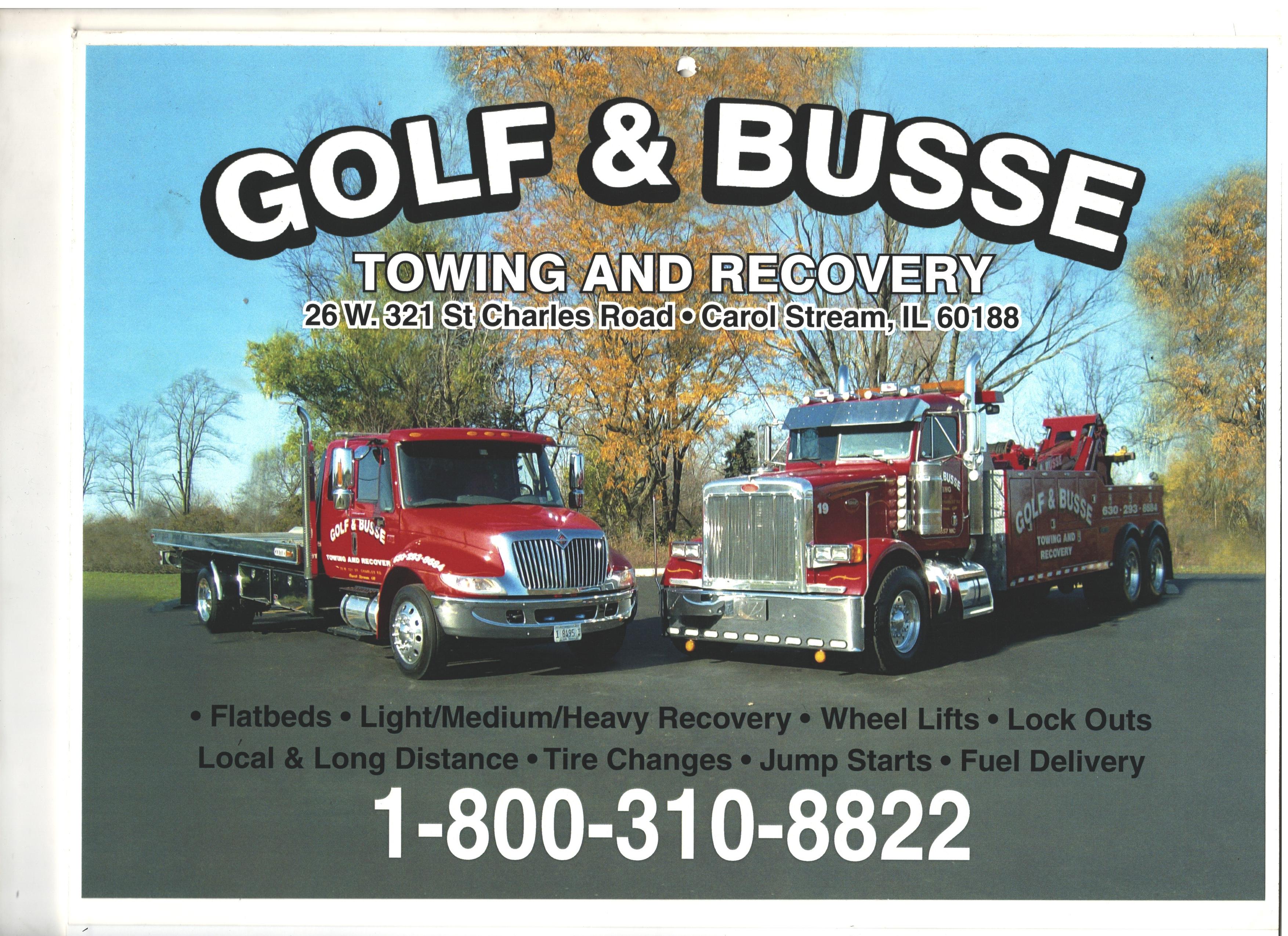 Golf & Busse Towing logo