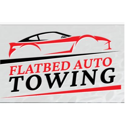 FLATBED AUTO TOWING logo
