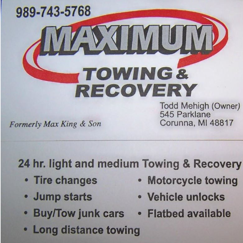 Maximum Towing and Recovery LLC logo